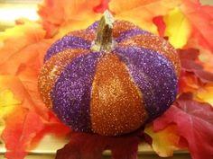 Glitter pumpkin how to