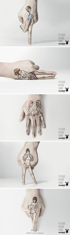 Campagne - Main - Dessin - Pleasure in your hands - Playboy