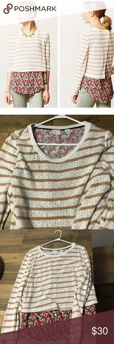 Anthropology postmark Ginny striped layered top Size large great used condition no flaws Anthropologie Tops