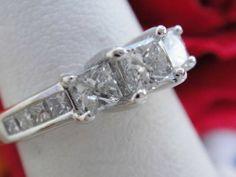 1CT Princess Diamond Engagement Ring EGL USA Certified