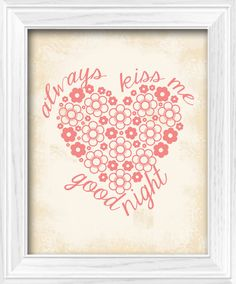 Coral Baby Girl Shabby Chic Always Kiss Me Goodnight by LostSockDesigns, $5.00