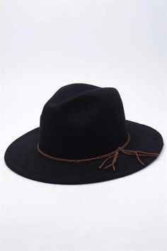 meet 7ad02 44f73 Best-seller women wool-felt fedora hat with a braided tassel. Brim approx