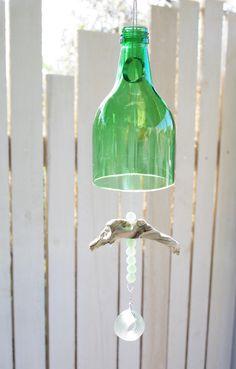 """Traumfänger & Mobiles - Windspiel """"recycelte Flasche"""" - ein Designerstück von Andrea-Wennmacher bei DaWanda"""