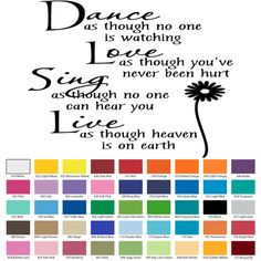 DANCE LIKE NO ONE IS WATCHING VINYL WALL QUOTE Custom Vinyl Wall Decals, Vinyl Wall Quotes, How To Remove, How To Apply, Dance Like No One Is Watching, It Hurts, Walls, Wall