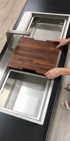 Kitchen Pantry Design, Diy Kitchen Storage, Modern Kitchen Design, Home Decor Kitchen, Interior Design Kitchen, Kitchen Organization, Kitchen Furniture, Diy Furniture, Furniture Plans