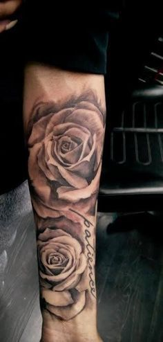tattoo forearms roses - Google Search