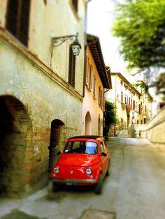 Fiat 500 / Bevagna / Italy