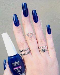 Ideas Nails Acrilico Elegantes Rojas For 2019 Red Manicure, Manicure Y Pedicure, Colorful Nail Designs, Nail Art Designs, Nails Design, Gorgeous Nails, Pretty Nails, Super Cute Nails, Nails Polish