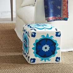 Wisteria+-+Furniture+-+Shop+by+Category+-+Poufs+&+Stools+-++Suzani+Pouf+-+$229.00