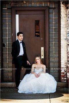 Awesome urban wedding photos of the bride and groom. #wedding #detroit #urban #photoshoot #photography