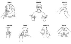 sign language - who what when where why which how