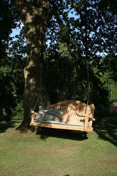 I love sitting in an old garden swing whether it's on a porch or under a tree.  It's so peaceful to feel the warmth of sunshine as it glimmers through the leaves in spring or fall.