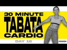 30 Minute Tabata Cardio Workout | POWER Program - Day 16 - YouTube Tabata Cardio, Best Cardio, Weight Loss Workout Plan, Belly Fat Workout, Fat Burning Workout, Gym Workouts, Simple Workouts, Morning Workouts, Swimming Workouts
