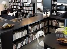 Cuisine avec bibliotheque ikea