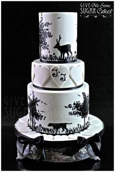 Hunting wedding cake - by Give Me Some Sugar Cakes @ CakesDecor.com - cake decorating website