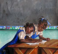 Students by Jonathan Guy-Gladding. Phi for scholarship - we all have a bit!!