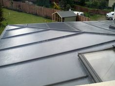 Topseal are market leaders in fibreglass roofing and grp roofing for flat roofs. Trusted supplier of fibreglass roof materials. Fibreglass Flat Roof, Steel Roofing, Tin Roofing, Roofing Shingles, Modern Roofing, Pergola Attached To House, Roof Architecture, Roof Styles, Roof Light