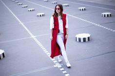 "#ESCADAEscapes: @billieroseblog wearing our ESCADA ""Dlazer"" dress and top ""Niteo"" while exploring Palais Royal, Paris"