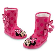 Minnie Mouse Boots for Girls...OMG Kay is getting these