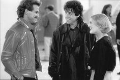 Drew Barrymore, Adam Sandler, and Allen Covert in The Wedding Singer (1998)