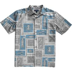 Men's Calamari Short Sleeve Printed Shirt