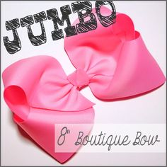 "This is one JUMBO boutique hair-bow, perfect for all of you ginormous large hair-bow lovers!  This big hair-bow measures a full 8"" across and even better, we can show you how to make your own!  Join us on the blog for complete DIY instructions..."
