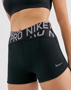 Shop Nike Pro Training crossover shorts in black at ASOS. Cute Nike Outfits, Cute Workout Outfits, Cute Lazy Outfits, Sporty Outfits, Athletic Outfits, Teen Fashion Outfits, Dance Outfits, Look Fashion, Summer Outfits