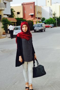 ❤️ | MyhijabStyle  Hijab  Hijab outfits  Red scarf