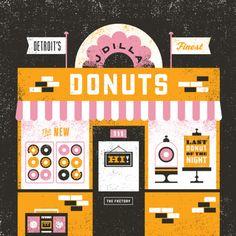 Basemint Design. J Dilla's 'Donuts' album artwork re-imagined