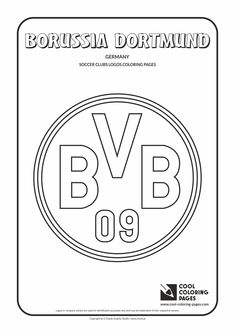 Cool Coloring Pages - Soccer Clubs Logos / Borussia Dortmund logo / Coloring page with Borussia Dortmund logo