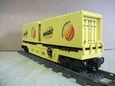 Lego Custom Double Container train wagon (Weetabix )