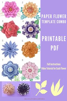 Are you looking for paper flowers printable template and tutorial? Check out this one, it is easy to be created just with a printer! #paperflowersprintable #paperflowerspattern #flowertemplateprintable #flowerpetalprintable #paperflowerstemplate #paperflowerstutorial #paperflowersdiy #paperflowerscraft Large Paper Flower Template, Flower Petal Template, Paper Flower Tutorial, Easy Paper Flowers, Paper Flower Backdrop, Flower Words, Giant Paper Flowers, Printable Templates, Flower Center