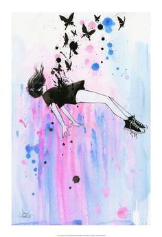 Art Print: Out of Gravity by Lora Zombie : 20x14in
