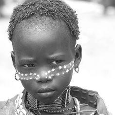 Africa | Portrait of a Hamer girl. Omo Valley, Ethiopia | © Daniele Romagnoli