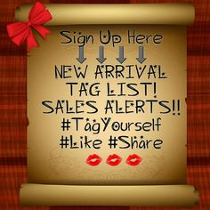 New Arrival and Sales Alerts!!! Tag Yourself If You Would Like To Be Notified Of New Arrivals!!! Accessories