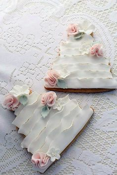 22 Best Ideas for cupcakes decoration ideas wedding sugar cookies Fancy Cookies, Iced Cookies, Cute Cookies, Cookies Et Biscuits, Sugar Cookies, Fondant Cookies, Royal Icing Cookies, Cupcake Cookies, Cookie Favors