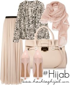 Hashtag Hijab Outfit that is amazing and so classy , i definetly want a nude shoes and bag Islamic Fashion, Muslim Fashion, Beautiful Hijab, Beautiful Outfits, Love Fashion, Fashion Outfits, Leopard Fashion, Hashtag Hijab, Gilet Long