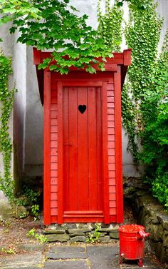 Outhouse door with heart in Norway.