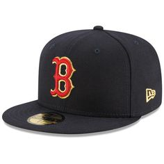 Boston Red Sox New Era Finest 59FIFTY Fitted Hat - Navy 6bacae506ed