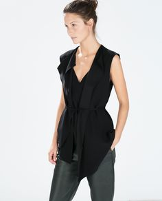 {FLOWY GILET IN BLACK - ZARA F/W2014 - under $100}