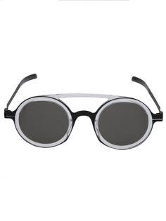 MYKITA - Matte Metal Frame Sunglasses - DD03 A2-BLK/LIMPID GREY SOLID - H. Lorenzo