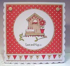 Using 'Changing Birdhouse' Love Hug, Art Impressions, My Stamp, Bird Houses, Claire, Crafty, Frame, Cards, Envelopes