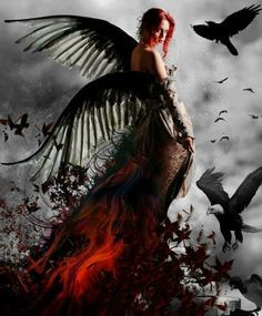 Dark Angel Credit to the Artist Dark Gothic Art, Gothic Fantasy Art, Fantasy Artwork, Dark Art, Gothic Angel, Gothic Fairy, Angel Images, Angel Pictures, Dark Beauty