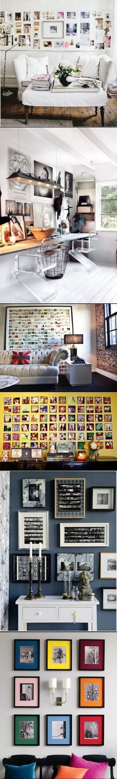 #DIY Ideas to To Display Family Photos On Your Walls
