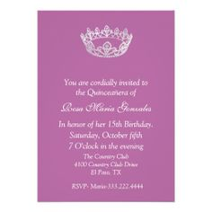 Pink Elegant Crown Quinceañera Invitation so please read the important details before your purchasing anyway here is the best buyReview          	Pink Elegant Crown Quinceañera Invitation please follow the link to see fully reviews...