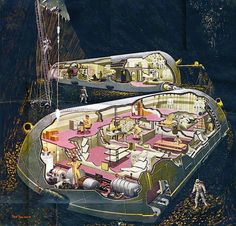 Inside The Lunar Base- Collier's Magazine, 1952.