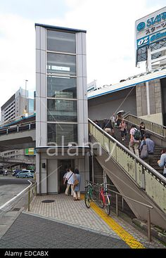 Shibuya Station Front And Pedestrian Bridge Stock Photo, Picture And Royalty Free Image. Pic. 77103598
