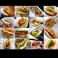 The Serious Eats Chicago Dog Style Guide - Chicago Style Hot Dogs - HotDog Chicago Hot Dog, Chicago Style, Chicago Trip, American Hot Dogs, Hot Dog Recipes, Pork Recipes, Serious Eats, Best Dishes, I Love Food