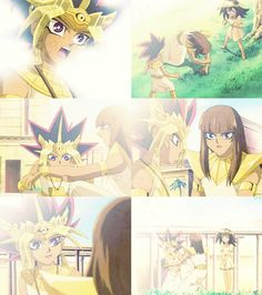 Ah the friendship between Pharaoh Atem, Mahad and Mana well explained and very touching and sweet that even extends thousands of years later between Yugi, Dark Magician and Dark Magician Girl.