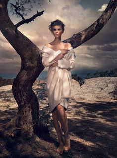 visual optimism; fashion editorials, shows, campaigns & more!: isle of dreams: maryna linchuk by vincent peters for uk harper's bazaar september 2015